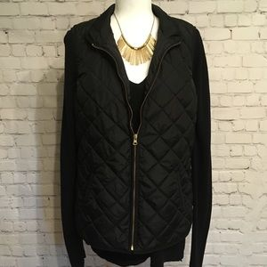Old Navy - Black Puffer Vest - L Tall